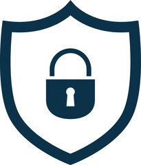VPN icon safeguarding security line graphic simple no background
