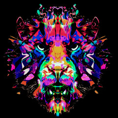 abstract colorful background with tiger