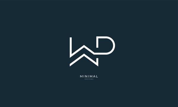 Alphabet letter icon logo WP
