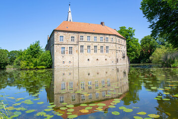 The historic Lüdinghausen Castle in Westphalia, Germany, 05-28-2020