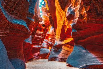 Fototapeten Violett rot Antelope Canyon is a slot canyon in the American Southwest.