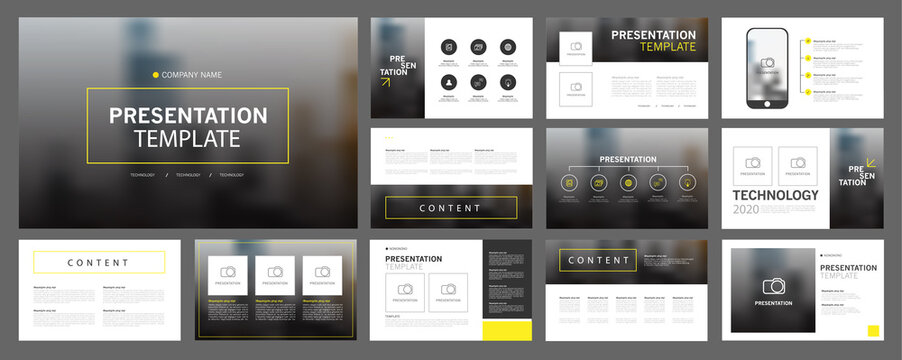 Business presentation templates set. use in presentation, flyer and leaflet, corporate report, marketing, advertising, annual report, banner, annual report brochure, company profile.