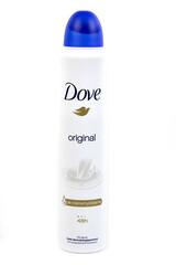 bouteille de déodorant de marque Dove