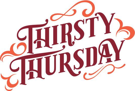 Thirsty Thursday Bar Specials Text Banner