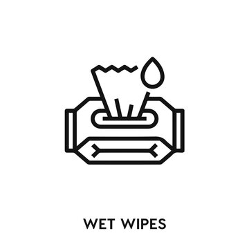 wet wipes vector. wet wipes icon vector symbol illustration. Modern simple vector icon for your design. wet wipes icon vector