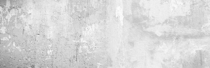 Panoramic grey paint limestone texture background in white light seam home wall paper. Back flat...