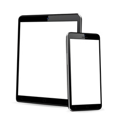 Tablet with phone mock up