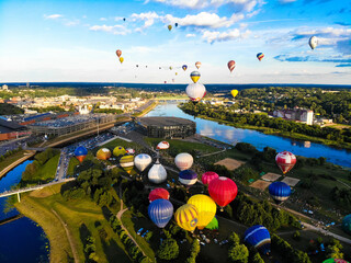 Hot air balloons festival in Kaunas, Lithuania