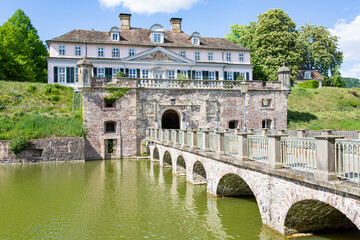 Medieval castle in Bad Pyrmont, Lower Saxony, Germany, 05-26-2020
