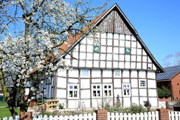 Historic farmhouse in Osnabrücker Land, Lower Saxony, Germany, 05-22-2020