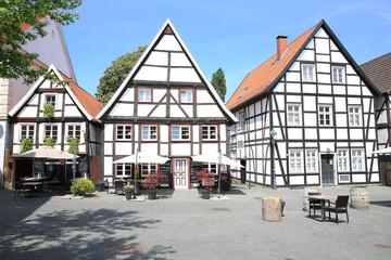 Historic downtown in Soest, Westphalia, Germany, 05-25-2020