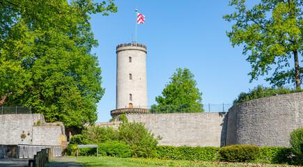 The medieval Sparrenburg in Bielefeld, Westphalia, Germany, 05-22-2020