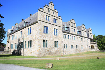 The historic Stadthagen Castle in Lower Saxony, Germany, 05-22-2020