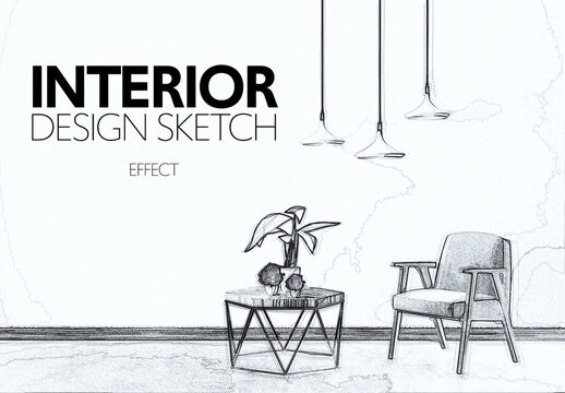 Architectural Sketch Effect