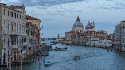 Wall Mural - Santa Maria della Salute with view of Venice skyline in Italy