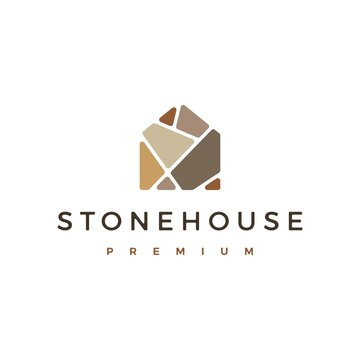 stone house logo vector icon illustration
