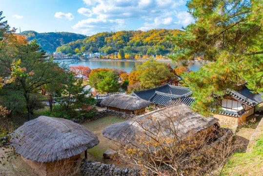 Andong folk village near Woryeonggyo Bridge in Republic of Korea