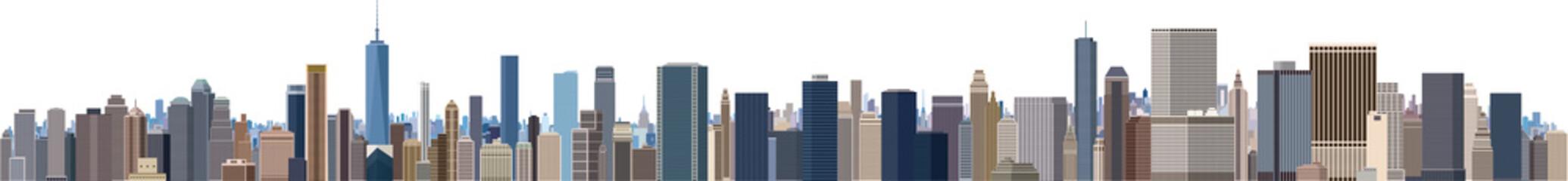 摩天楼 大都会のビル群 パノラマ
