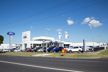 Geelong, Australia: April 03, 2017: Rex Gorell Ford Geelong is Australia's largest volume Ford dealership. Illustrative Editorial