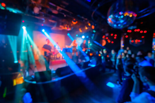 Music band performing live at night club