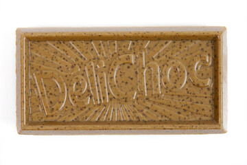 biscuit de marque Délichoc sur un fond blanc