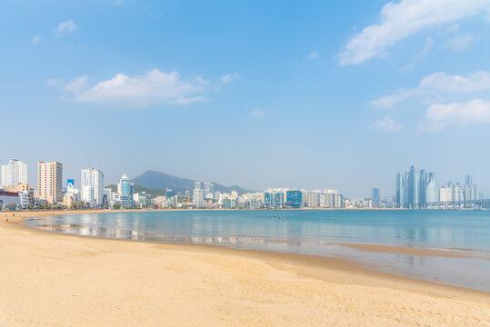 Gwangalli beach in Busan, Republic of Korea