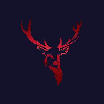 Abstract deer vector logo template - Eps 10