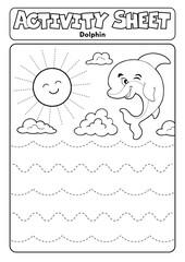 Activity sheet dolphin theme 1