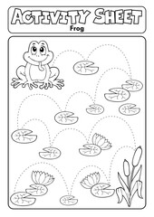 Foto op Canvas Voor kinderen Activity sheet frog theme 1