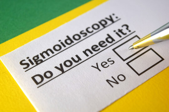One person is answering question about sigmoidoscopy.