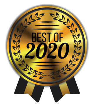 Best of 2020. Vector Golden Badge.