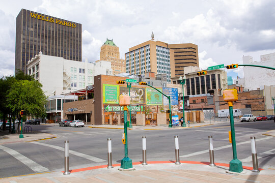 Scenic downtown in El Paso, Texas, USA, 08-02-2018