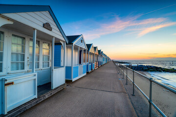 Wall Mural - Beach huts on the promenade at Southwold