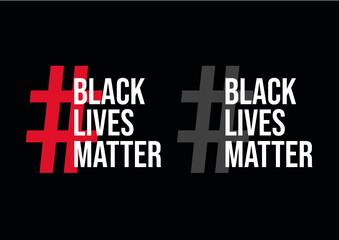 Black Lives Matter vector sign