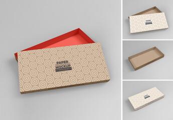 Rectangular Medium Box Mockup with 2 Views