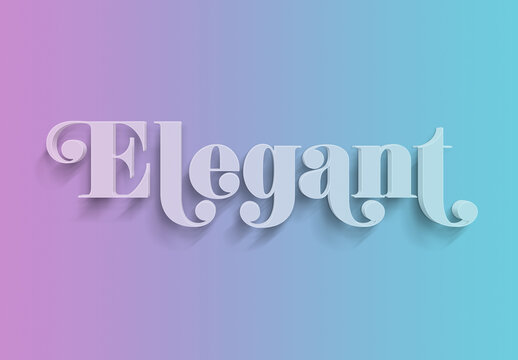 Elegant Text Effect with Pastel Gradeint Background