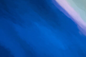 Abstract Blue Shades with Ping and Grey Corner. Digital Painting on Canvas.