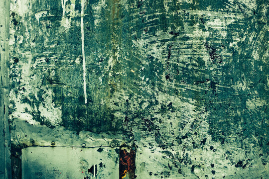 Steel Grunge Texture Background with Green Tones