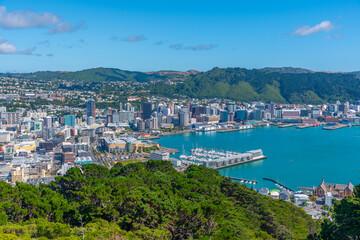 Aluminium Prints New Zealand Aerial view of Wellington, New Zealand