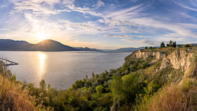 A beautiful sunset from the KVR and over the Okanagan's own Lake Okanagan.