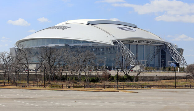 The AT&T Stadium located in Arlington, Texas on March 13, 2014. AT&T Stadium is home to the Dallas Cowboys of the NFL.
