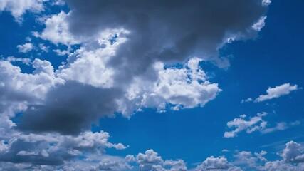Papier Peint - voluminous summer clouds time lapse