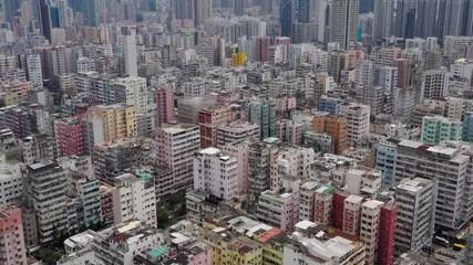 Wall Mural - Top down view of city in Hong Kong