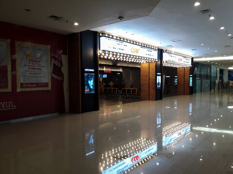 cinema inside a shopping mall. CGV Cinemas is the second largest cinema chain in Indonesia.