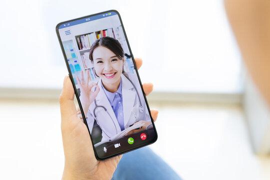 Telemedicine concept - video chat