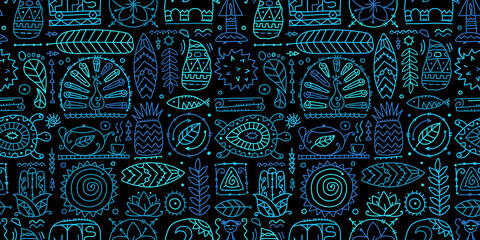 Sri Lanka art travel, tribal seamless pattern for your design