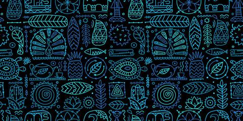 Photo sur Plexiglas Style Boho Sri Lanka art travel, tribal seamless pattern for your design