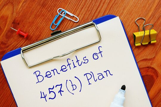 Benefits Of 457(b) Plan inscription on the page.