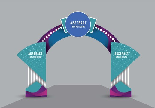 exhibition stand Gate entrance vector with for mock up event display, arch design