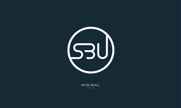 Alphabet letters icon logo SBU